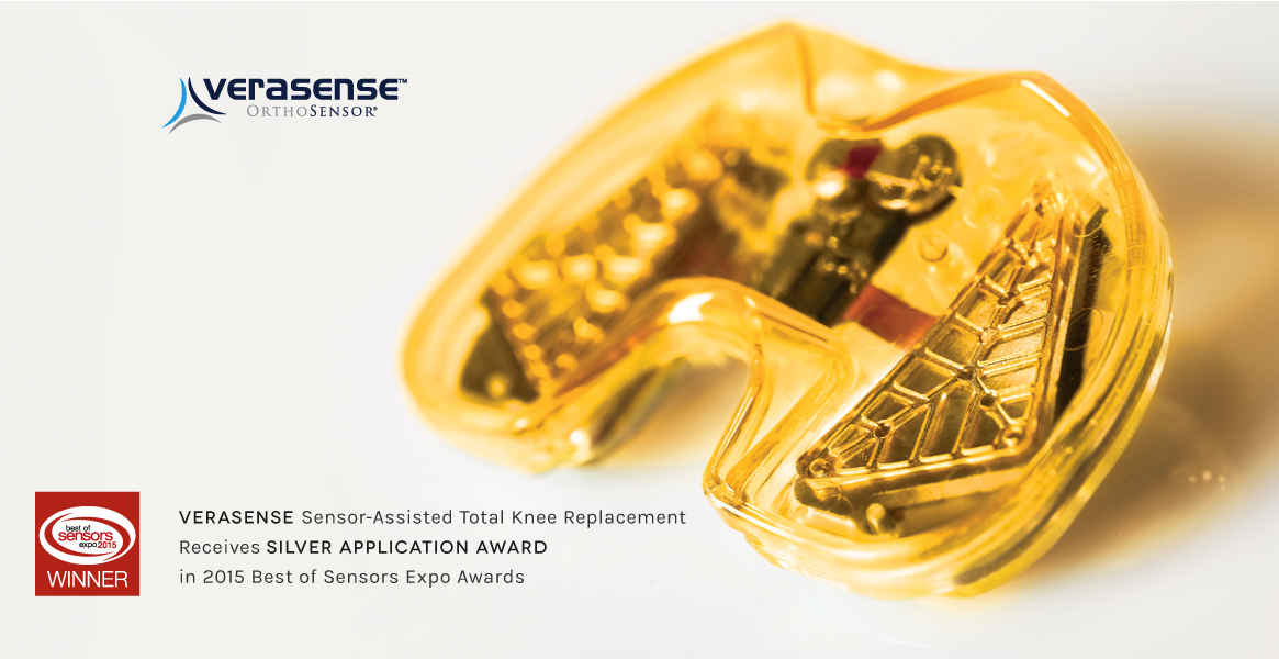 VERASENSE is 2015 Best of Sensors Silver Application Award Winner